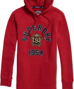 Superdry Sweatkleid »HILARY SPORT SWEAT DRESS« im trendy College-Style rot