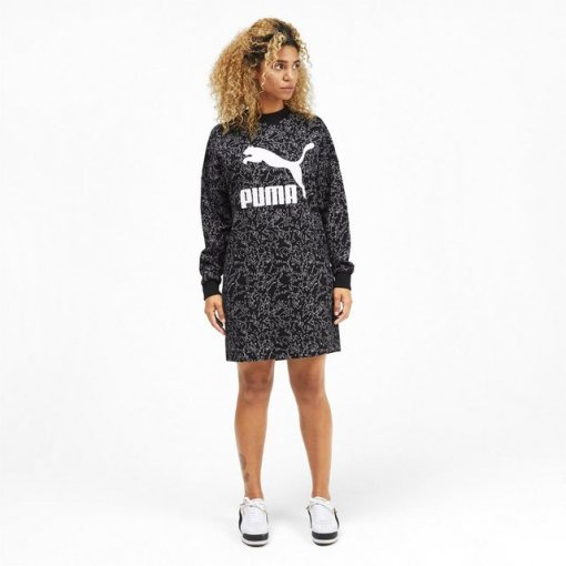 PUMA Sweatkleid »Classics Allover-Print Damen Kleid«