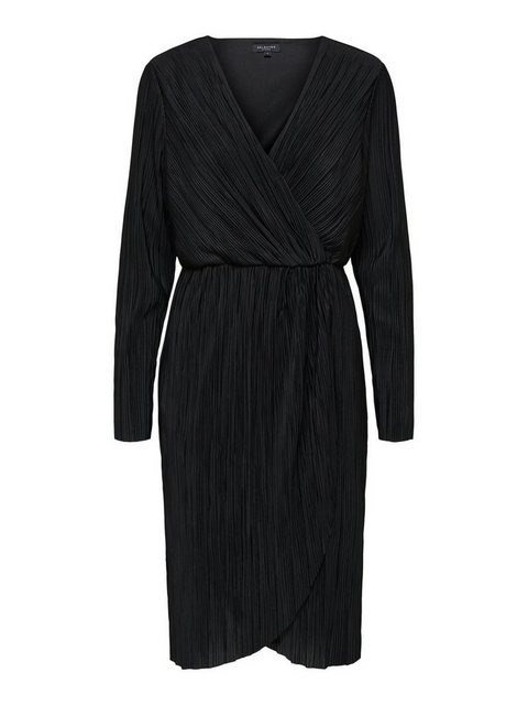 SELECTED FEMME Midi Wickel Kleid schwarz