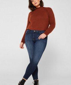 Esprit CURVY Shaping-Jeans mit 360°-Stretchkomfort blau
