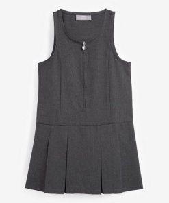 Next Kleid mit Reißverschluss vorne grau