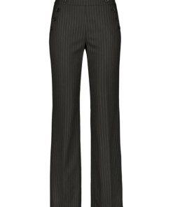 GERRY WEBER Hose Freizeit lang »Weite Hose mit Nadelstreifen« schwarz