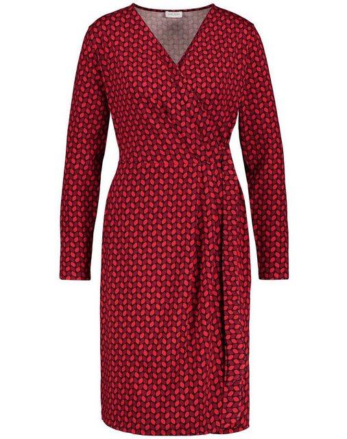 GERRY WEBER Kleid Gewirke »Kleid mit Wickeleffekt« rot