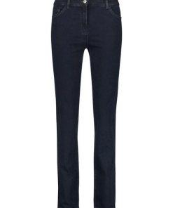 GERRY WEBER Hose Jeans lang »5-Pocket Jeans Straight Fit Kurzgröße« blau