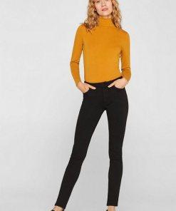 Esprit Superstretch-Jeans mit hohem Bund schwarz