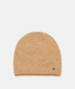 Esprit Woll-Kaschmir-Mix: Mütze aus Strick braun