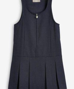 Next Kleid mit Reißverschluss vorne blau