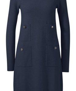 heine TIMELESS Strickkleid mit Taschen blau