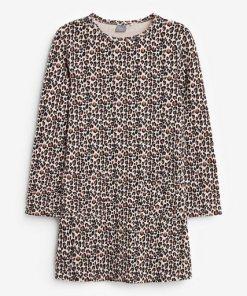 Next Langärmeliges Kleid braun