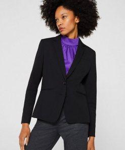 Esprit Collection PURE BUSINESS Mix + Match Stretch-Blazer schwarz