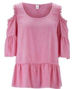 heine CASUAL Bluse mit dekorativen Cut-Outs rosa