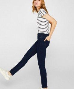 Esprit Stretch-Jeans mit hohem Bund blau