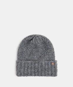 Esprit Mit Wolle und Alpaka: Mütze aus Bouclé grau