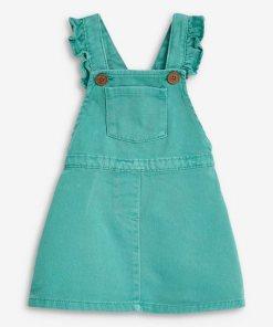 Next Trägerkleid mit Rüschen grün