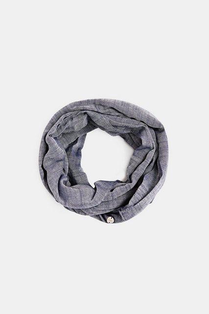 Esprit Loop-Schal aus 100% Baumwolle blau