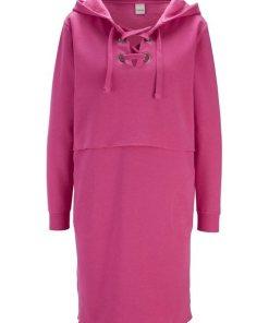 heine CASUAL Kleid trageangenehme Sweatware rosa