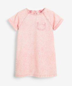 Next Denim-Etuikleid rosa