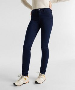 Esprit REPREVE Stretch-Jeans mit recyceltem Polyester blau