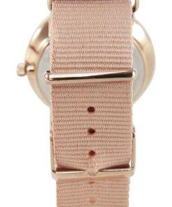 Heine Armbanduhr mit rieselnden Glitzersteinchen rosa