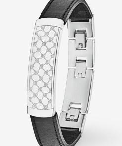 Armband in Silber/Schwarz silber/schwarz