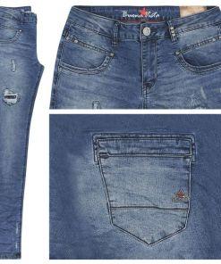 Buena Vista Jeans Anna C Stretch Denim stained destroys