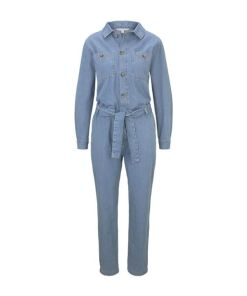 TOM TAILOR DENIM Damen Jeans Jumpsuit, blau, unifarben, Gr.XL