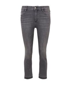 TOM TAILOR Damen Kate Kick Flare Jeans, grau, Gr.30