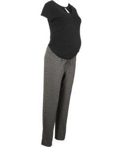 Umstands-Jersey-Jumpsuit kurzer Arm schwarz bonprix