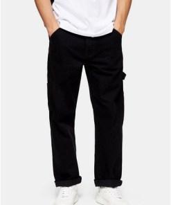 Jeans in Carpenter-Passform, schwarz, SCHWARZ