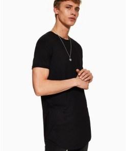 Langes T-Shirt, schwarz, SCHWARZ