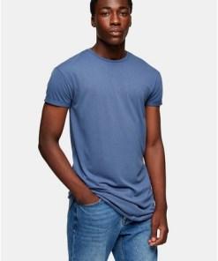 Langes T-Shirt, blau, BLAU
