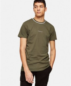 GOOD FOR NOTHING T-Shirt mit Logo auf der Brust, khaki, KHAKI