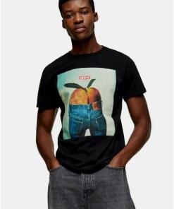 LEVI'S T-Shirt mit Foto-Print, schwarz, SCHWARZ