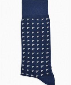 NAVY BLAUSocken mit geometrischem Muster, navyblau, NAVY BLAU