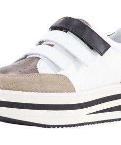 Heine Sneaker mit Plateau-Sohle, weiß