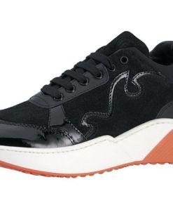 Heine Sneaker mit trendig breiter Sohle, schwarz