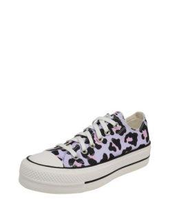 CONVERSE Sneaker 'CHUCK TAYLOR ALL STAR LIFT - OX' lila / pink / schwarz