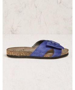 Think Damen Pantoletten Severa blau Sandalen - auch in Übergrößen