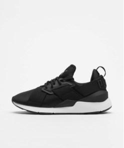 Puma Frauen Sneaker Satin Ep in schwarz