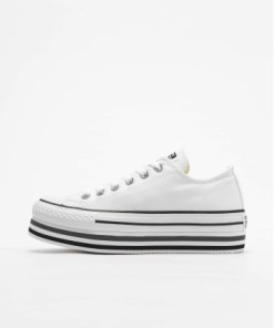 Converse Frauen Sneaker Chuck Taylor All Star Platform Layer Ox in weiß