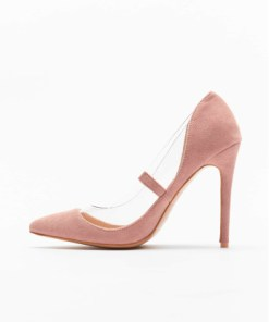 Missguided Frauen Pumps Perspex Trim Court in rosa