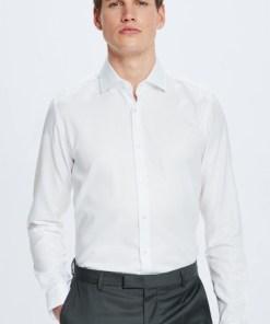 Baumwoll-Hemd Santos, easy iron, weiß