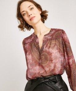 Gemusterte Oversize-Bluse