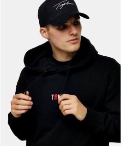TOPMAN SIGNATURE Baseball Cap mit Print, schwarz, SCHWARZ