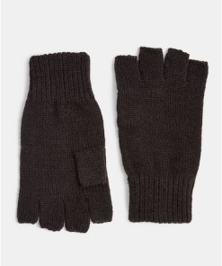Fingerlose Handschuhe, schwarz, SCHWARZ