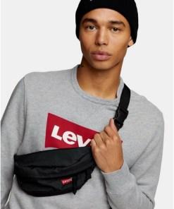Levi's Umhängetasche, schwarz, SCHWARZ