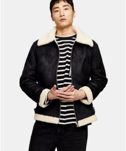 Jacke mit abgesetzten Streifen, schwarz und cremeweiß, SCHWARZ
