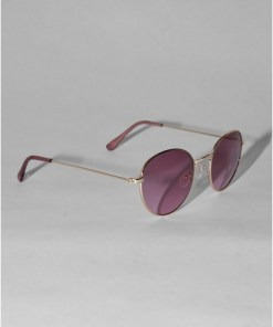 PINKJeepers Peepers Sonnenbrille mit runden Gläsern, gold, PINK