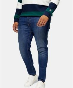 BLAUBig & Tall Stretch Skinny Jeans in mittlerer Waschung, BLAU