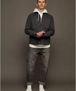 Jeans in lockerer Passform, grau, GRAU